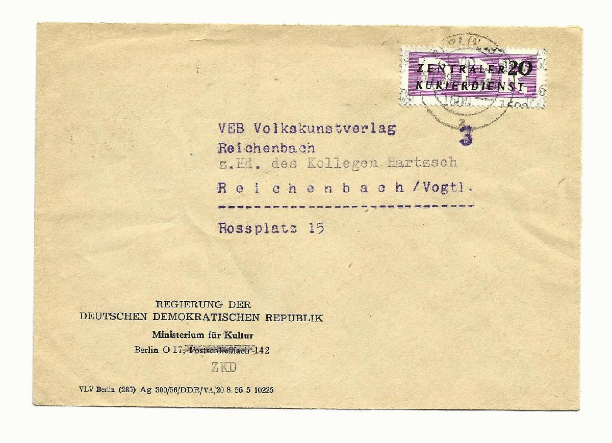 Briefumschlag Beschriften Persönlich Vertraulich : Philaseiten ddr dienstpost zkd post und