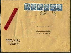 Brief Mit Heuss-marken Vom Ersttag 31.1.54 Weniger Teuer Briefmarken