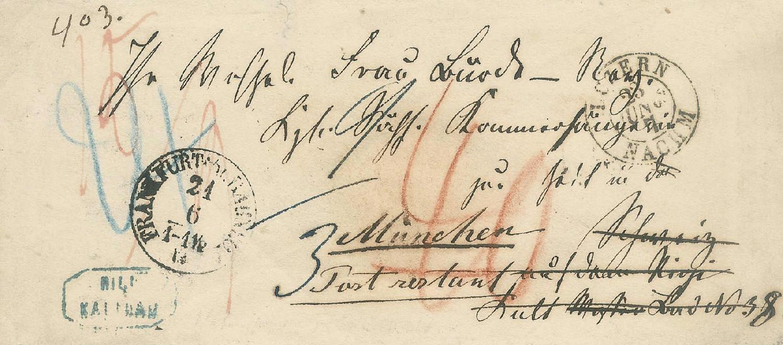 Philaseitende Belege Schweiz Altdeutsche Staaten