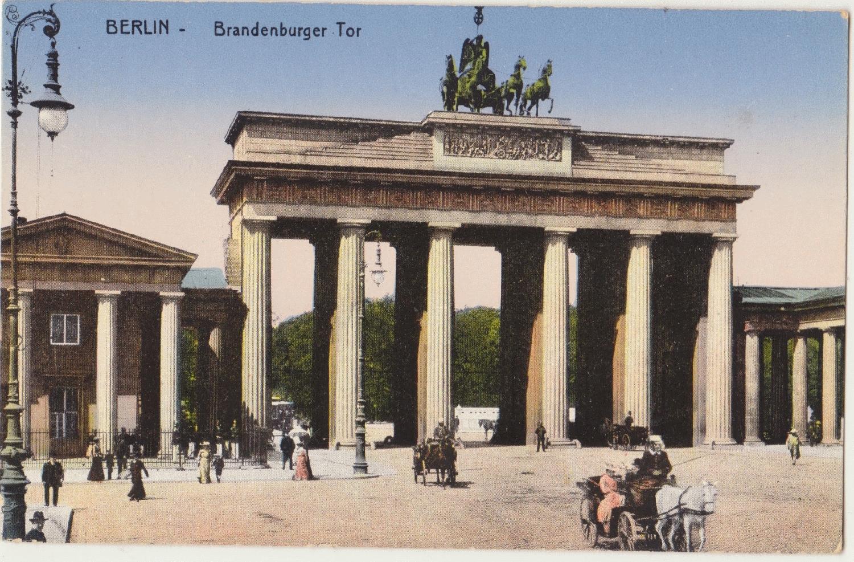 """Schreibblock//Briefblock weiß mit Motiv /""""Brandenburger Tor/"""" in grün NEU"""