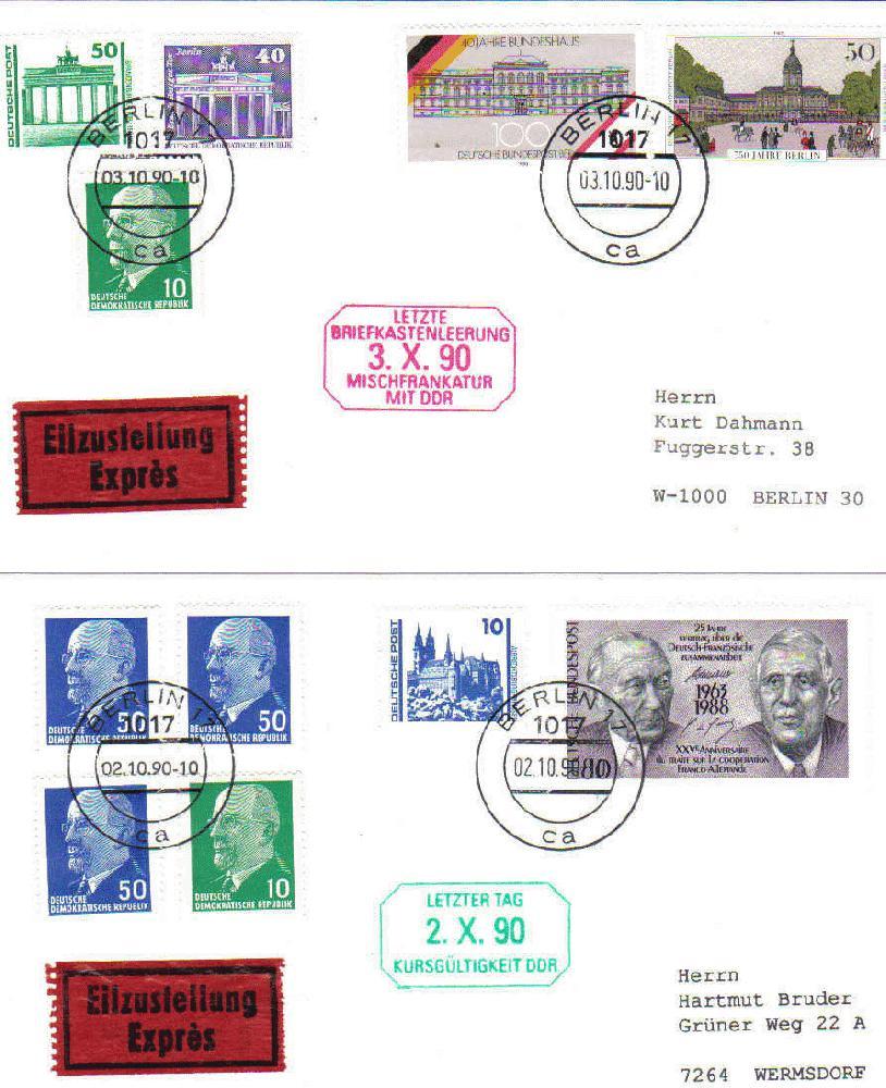 Letzte Briefkastenleerung