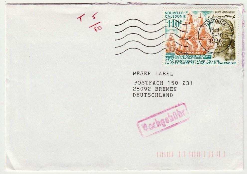 Brief Von Neuseeland Nach Deutschland Kosten : Philaseiten südseeperlen briefmarken und belege aus