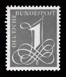 81 Gest Norwegen Nr 6- Freimarke Posthorn & Ziffer