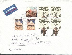 Briefmarken Briefmarke Brief 1988 Kanada Kanadische Briefmarken Auf Brief Gestempelt Reich Und PräChtig