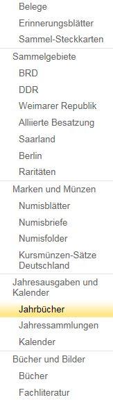 Philaseitende Deutsche Post Briefmarken Abonnement