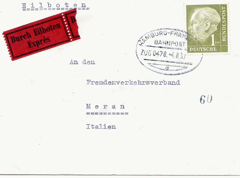 Münster Diverse Philatelie Bahnpost Basel // Bahnpost 1995