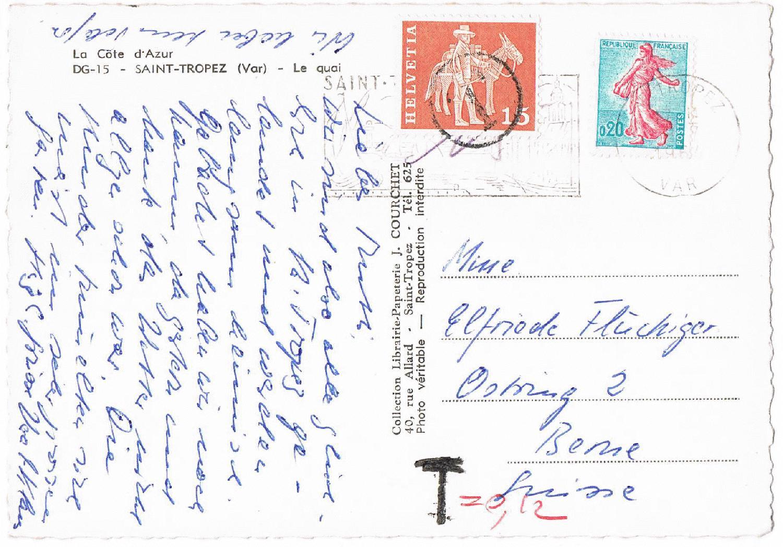 Philaseitende 4 Schweiz Portomarken Und Belege Mit