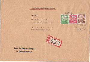 Brief Mit Heuss-marken Vom Ersttag 31.1.54 Weniger Teuer Diverse Philatelie Briefe & Kartenposten