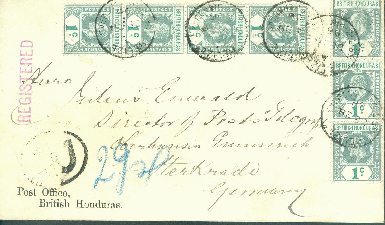Philaseitende Post Aus Der Britischen Karibik Nach Deutschland