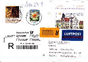 Philaseitende Label Aufklebezettel Auf Briefen Und Karten