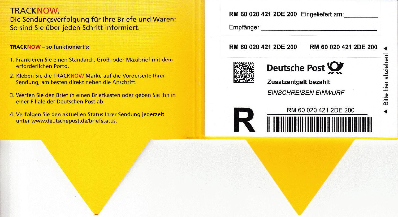 deutsche post briefstatus einschreiben