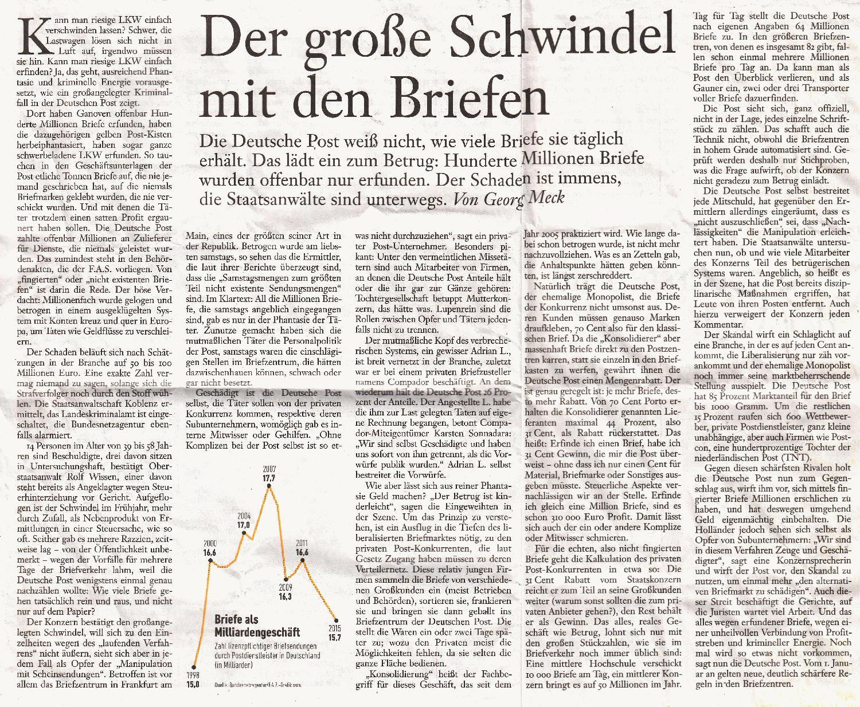 PhilaSeiten.de: Moderne Postgeschichte: Konsolidierer und deren Kodes
