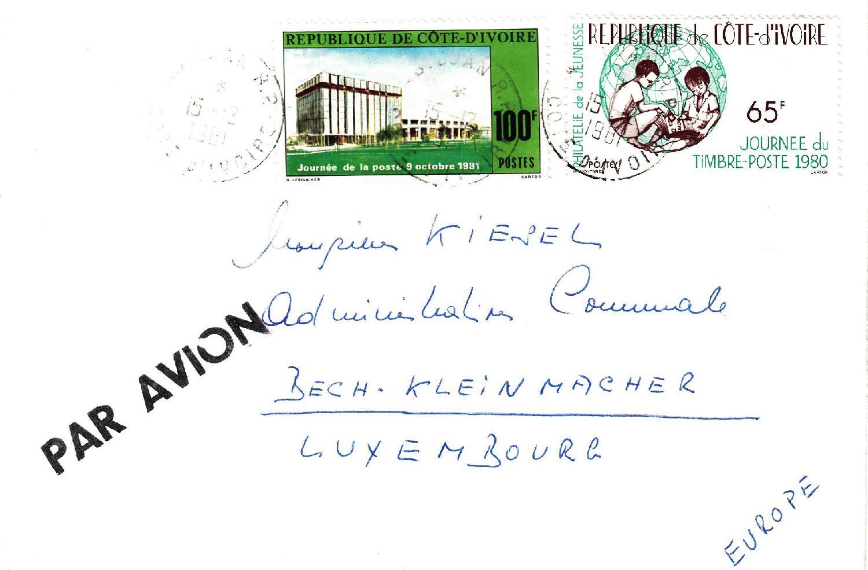 Philaseitende 1924 Elfenbeinküste Echt Gelaufene Belege