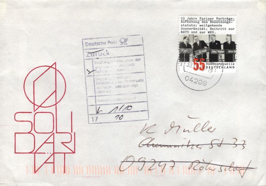 Philaseitende Gestempelte Handschriftliche Oder Postvermerke Als