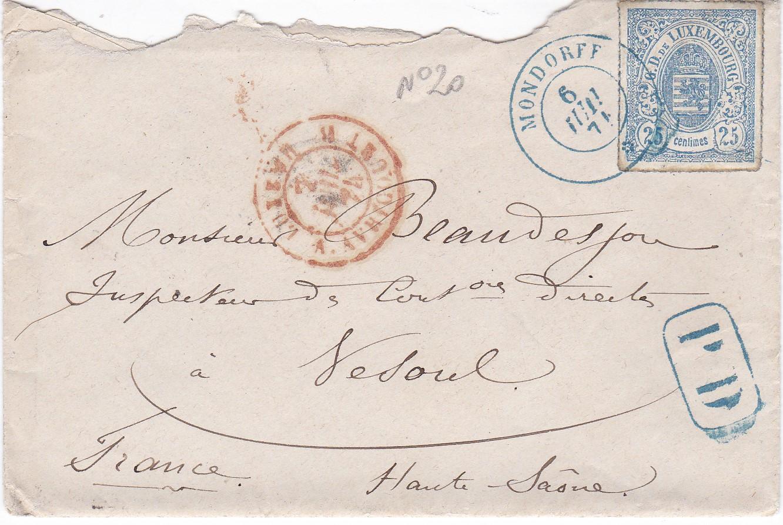 Philaseitende Luxemburg Bis 1900