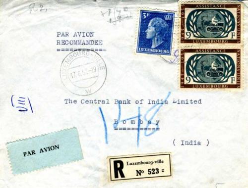Briefe Nach Indien : Philaseiten briefe ausländischer banken