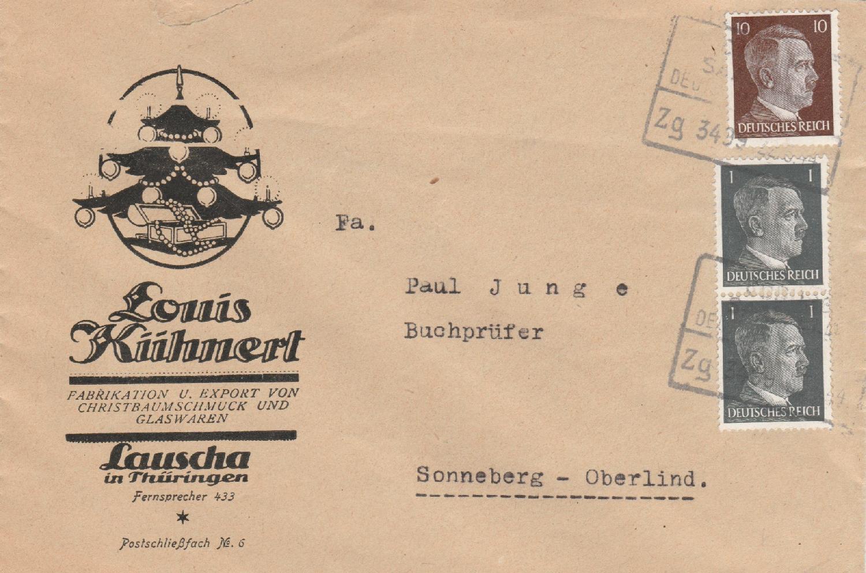 Philaseitende Deutsches Reich Bebilderte Werbung Auf