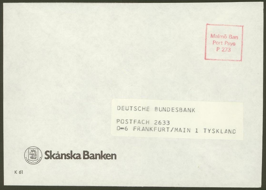 Philaseitende Briefe Ausländischer Banken