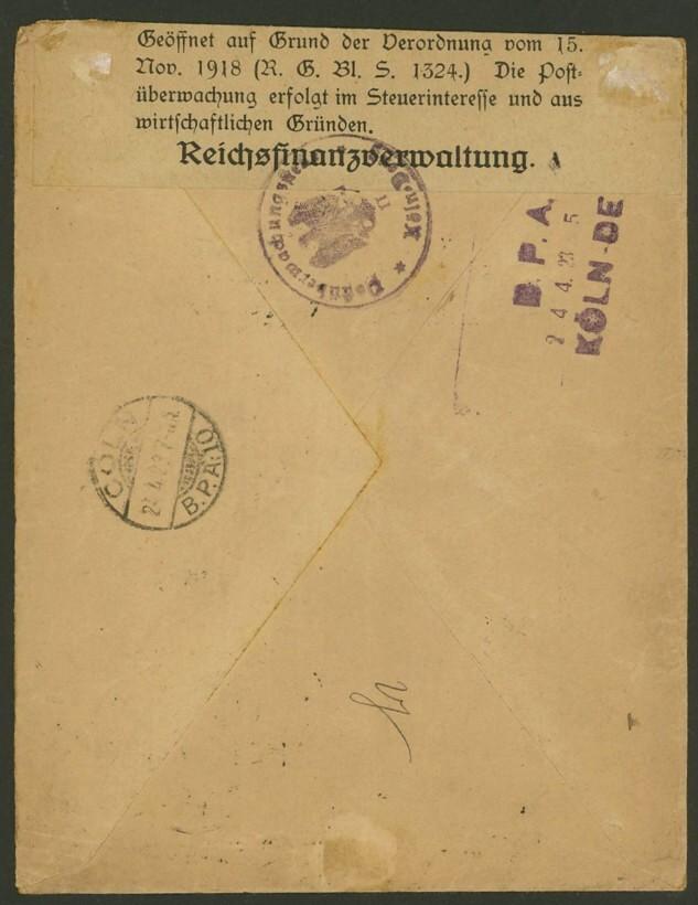Philaseitende Briefe Deutscher Banken