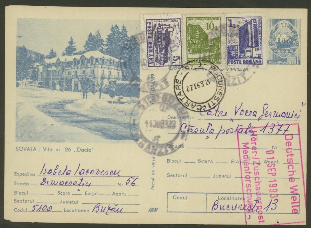 Philaseitende Rumänien Ganzsachen Bildpostkarten