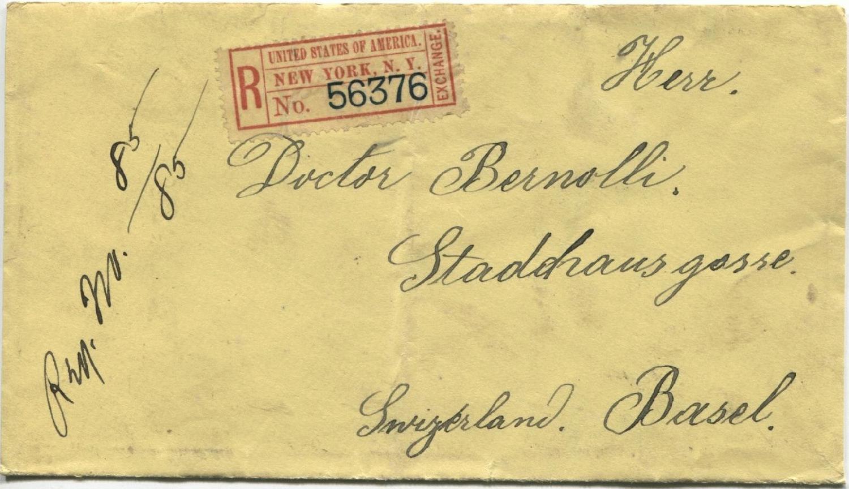Philaseitende Schweiz Eingehende Briefe