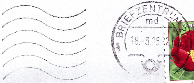 Poststempel briefzentrum