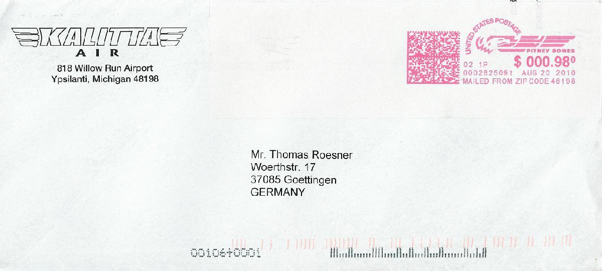 Philaseitende Luftpost Briefe Von Fluglinien