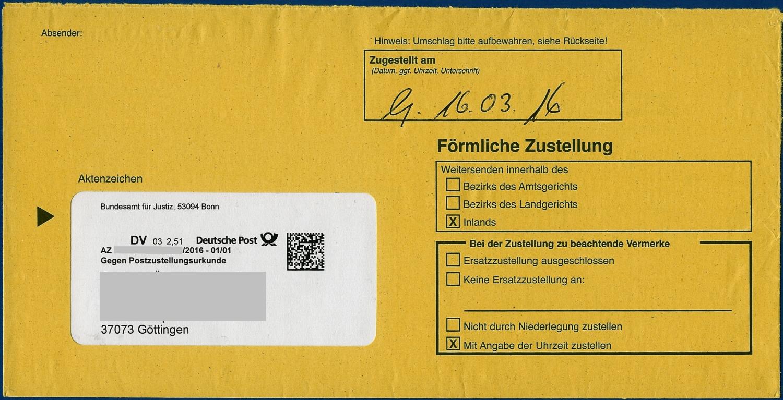 Philaseitende Postzustellungsaufträge Und Postzustellungsurkunden