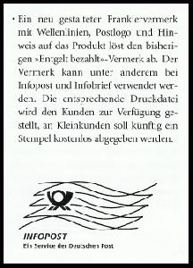 Frankierwelle Dialogpost Holzstempel Dialogpost früher Infopost Infopost-BA