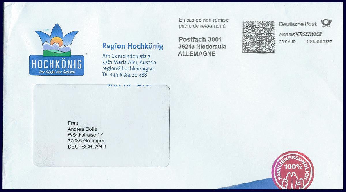 Philaseitende Moderne Postgeschichte Internationales Remailing
