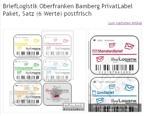 Philaseitende Moderne Privatpost In Deutschland