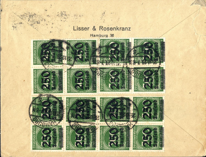 1919-1923 Germania Minr.149aii Gestempelt In Stuttgart Nr.1 Am 7 Sep 21 Deutschland Vor 1945
