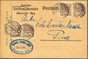 1919-1923 Praktisch Ziffer Im Kreis Minr 288ii Vom Walzenunterrand Gestempelt Deutschland
