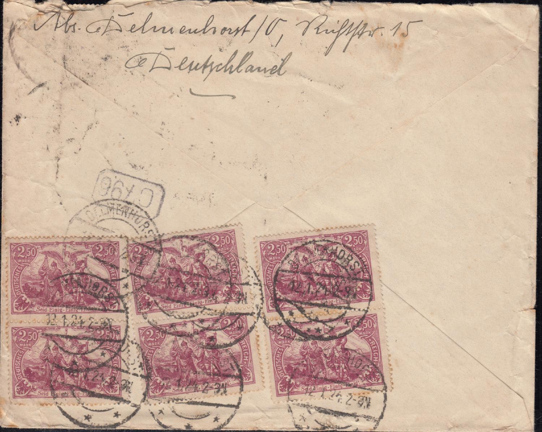 Philaseitende Deutsches Reich Inflationsbelege